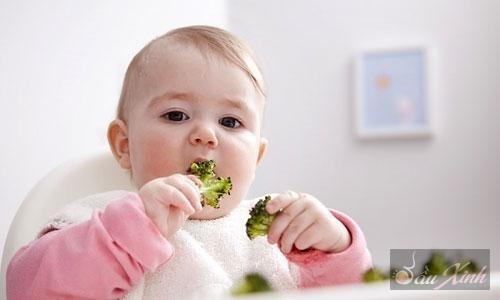 Bổ sung nhiều rau cho trẻ