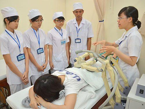 Một lớp học của sinh viên y khoa