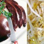 Gan lợn xào giá có thể gây ngộ độc cho người ăn