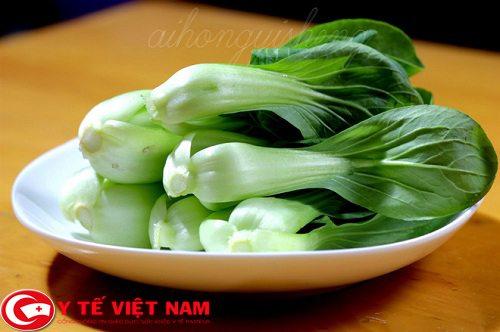 rau cải ngọt chứa hàm lượng can xi cao