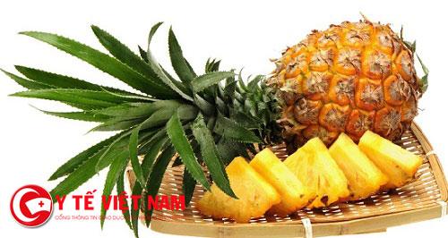 Dứa là thực phẩm đứng đầu trong các loại thực phẩm tốt cho người bệnh viêm xoang