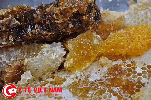 Sáp ong vị thuốc qúy chữa bệnh viêm họng.