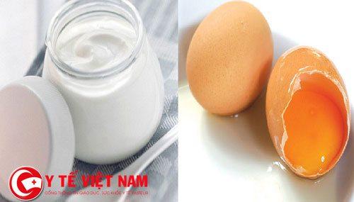 Sữa chua và trứng gà là phương pháp trị gàu hiệu quả