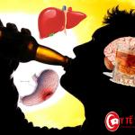 Uống nhiều rượu bia khiến tình trặng mắc ung thư dạ dày gia tăng