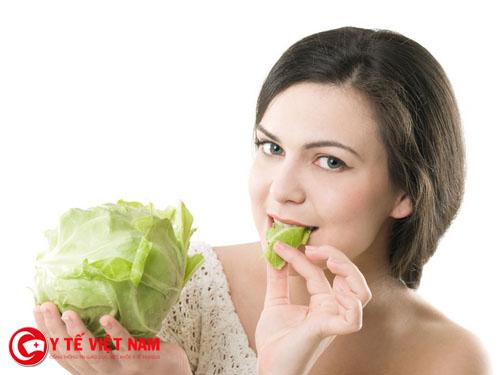 Cải bắp là một trong những thực phẩm không thể thiếu trong ăn chay