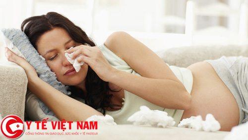 Phụ nữ mang thai mắc bệnh cảm lạnh