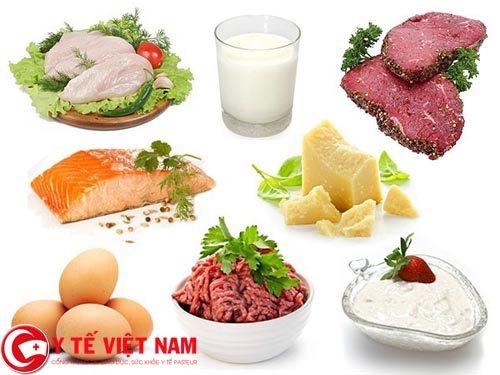 Bệnh nhân mắc bệnh gan nên hạn chế ăn những thực phẩm có quá nhiều Protein