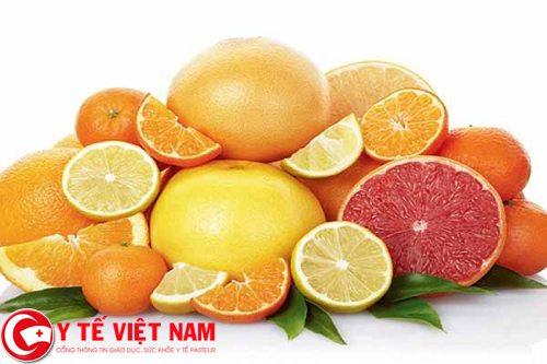 Bổ sung các loại trái cây giàu Vitamin C cho cơ thể