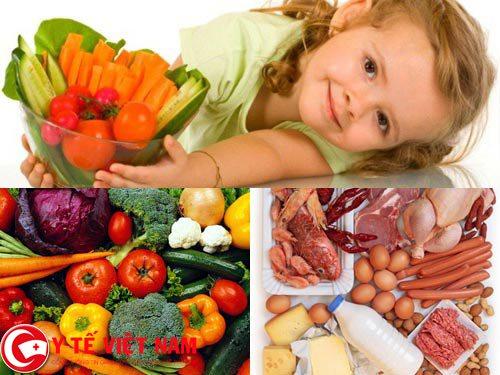 Xây dựng chế độ dinh dưỡng lành mạnh cho bé