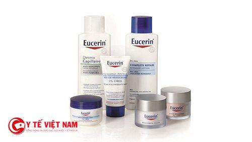 Dược mỹ phẩm Eucerin rất tốt cho làn da bị mụn