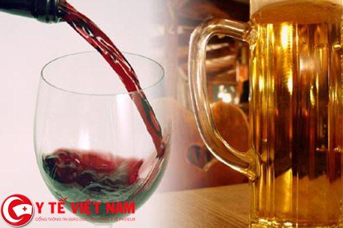 Do rượu bia gây ra