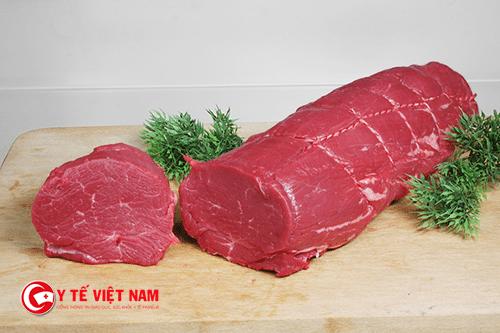 Các loại thịt đỏ là yếu tố gây nên bệnh viêm da dị ứng