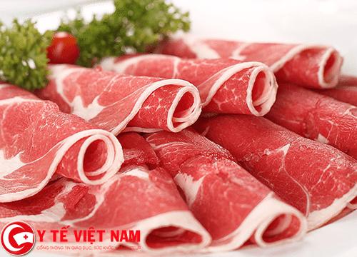 Thịt bò thực phẩm người bệnh nấm da đầu không nên ăn