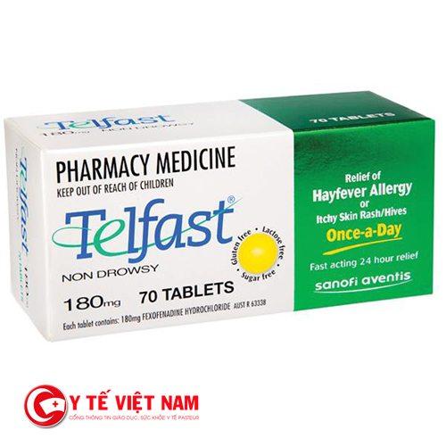 Telfast điều trị viêm mũi dị ứng hiệu quả