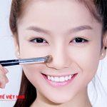 Nâng mũi bằng phương pháp trang điểm đơn giản