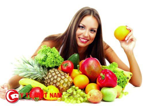 Bổ sung rau trái cây xanh giúp bạn trắng da mỗi ngày