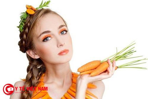 Bạn nên chăm sóc da vào mùa đông với cà rốt