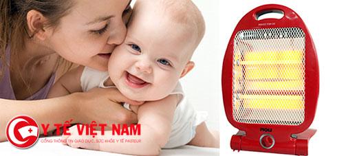 Sử dụng quạt sưởi ấm sẽ giúp trẻ khỏe mạnh hơn trong mùa đông