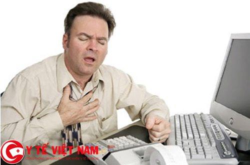 Khó thở là dấu hiệu của bệnh thiếu máu cơ tim