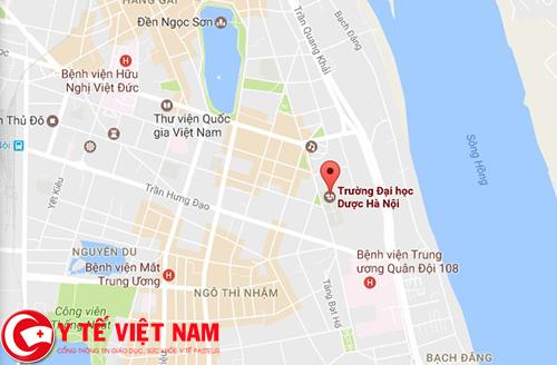 Bản đồ trường Đại học Dược Hà Nội chi tiết nhất, cụ thể nhất