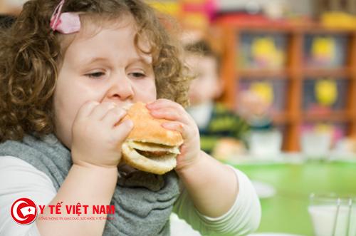 Tình trạng béo phì ở trẻ ngày càng cao