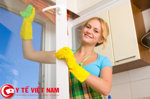 Cách phòng bệnh bạch hầu nên vệ sinh nhà cửa sạch sẽ