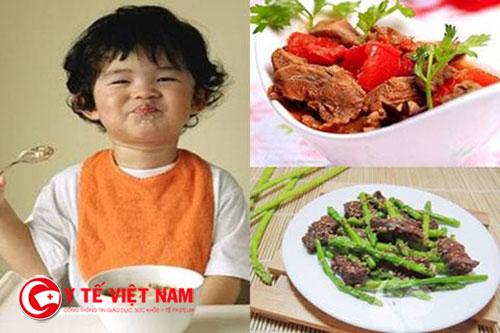 Khẩu phần cho trẻ 2 tuổi biếng ăn cũng cần phải đảm bảo