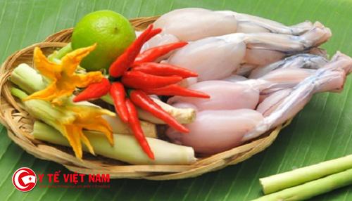 Món ăn bài thuốc điều trị viêm mũi dị ứng từ ếch giúp thông mũi