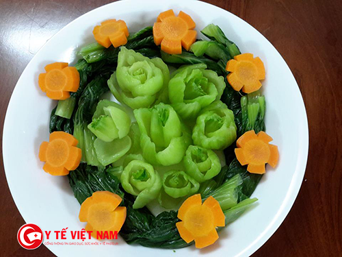 Chế biến các món rau xanh bắt mắt
