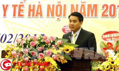 Chủ tịch UBND TP. Hà Nội phát biểu tại lễ mít tinh kỷ niệm 62 năm ngày thầy thuốc Việt Nam