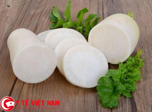 Củ cải là loại rau tốt cho người bệnh gút