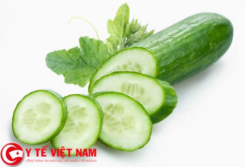 Dưa chuột là loại rau tốt cho người bệnh gút