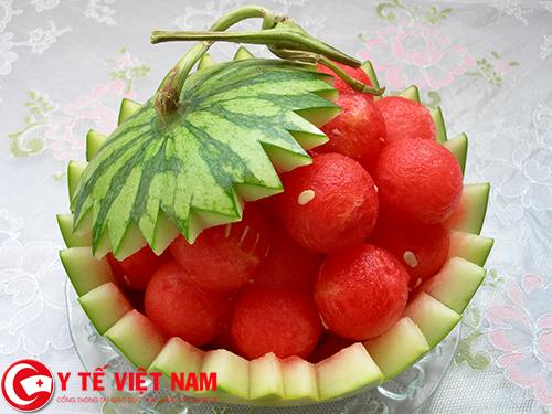Dưa hấu trái cây hỗ trợ điều trị bệnh gút