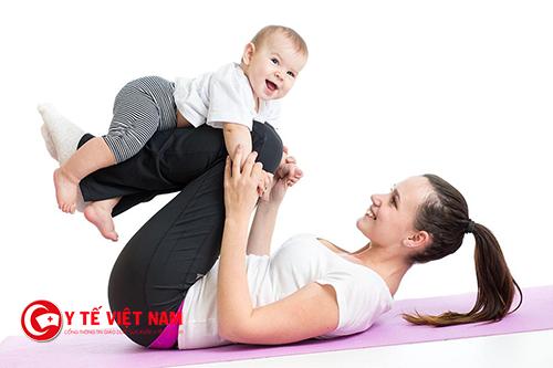 Chế độ luyện tập giảm can sau sinh