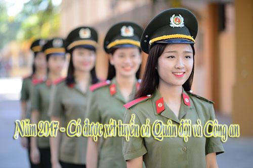 Khối trường Quân đội: Thí sinh chỉ được sơ tuyển Quân đội hoặc Công an