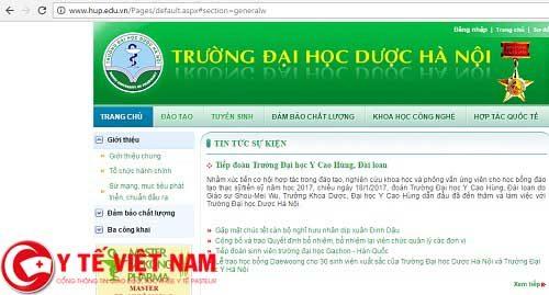 Sơ đồ và cách tìm kiếm thông tin trên Website trường Đại học Dược Hà Nội