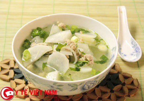 Món cháo củ cải trắng chữa khỏi bệnh gút