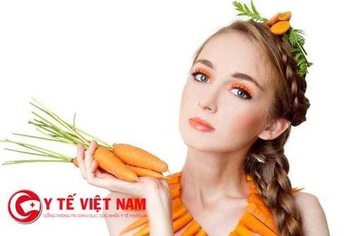 Cà rốt chữa nám tàn nhang hiệu quả
