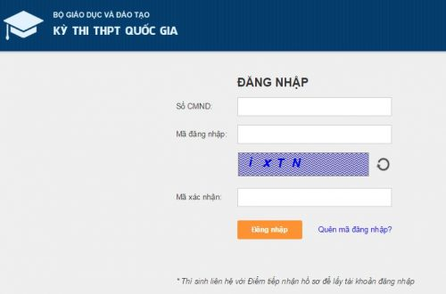 Thí sinh đăng nhập để tra cứu điểm thi tại website của Bộ GD&ĐT
