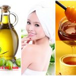 căng da mặt bằng dầu oliu