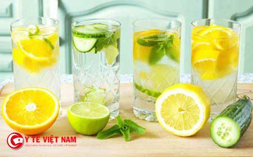Nước uống Detox nhiều lợi ích cho sức khỏe