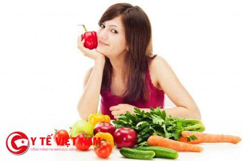 Ăn nhiều trái cây và rau xanh