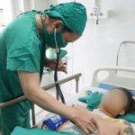 Bệnh nhân đang hồi phục sau ca mổ