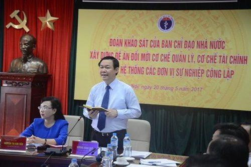 Phó Thủ tướng Chính phủ Vương Đình Huệ phát biểu tại buổi làm việc. Ảnh: DN