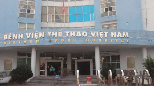 Bệnh viện Thể thao Việt Nam, nơi xảy ra sự việc