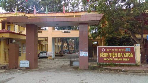 BV đa khoa huyện Thanh Miện nơi xảy ra vụ việc