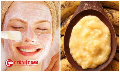 Mặt nạ cho da khô từ chuối giúp da mềm mịn