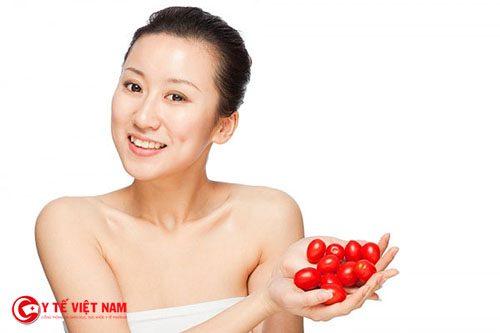 Cà chua giúp làn da sáng mịn và ngăn ngừa lão hóa da hiệu quả