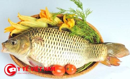 Cá chép mang lại cơ thể sức khỏe cho phụ nữ sau sinh