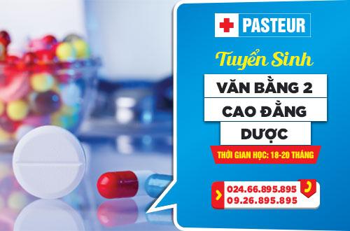 Trường Cao đẳng Y Dược Pasteur tuyển sinh Văn bằng 2 Cao đẳng Dược